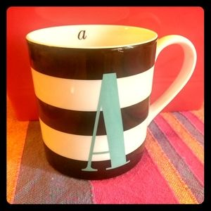 Kate Spade monogrammed letter A coffee cup